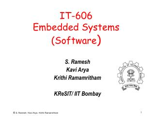 IT-606 Embedded Systems Software