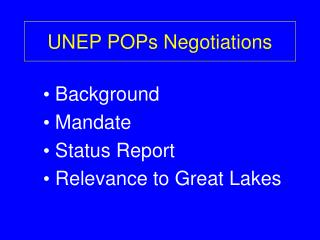 UNEP POPs Negotiations