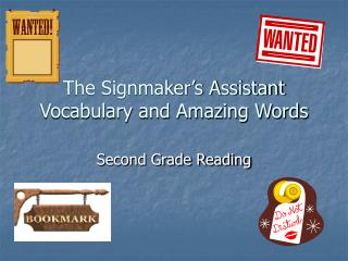 The Signmaker's Assistant Vocabulary and Amazing Words