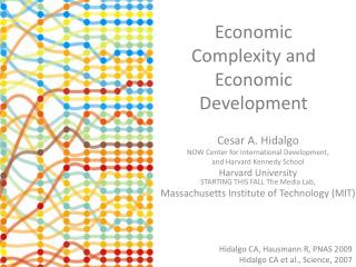 Economic Complexity and Economic Development