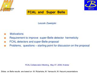 FCAL  and   Super  Belle