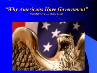 """""""Why Americans Have Government"""" (correlates with 3.4 of new book)"""