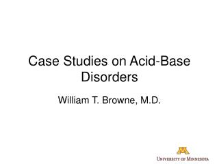 Case Studies on Acid-Base Disorders