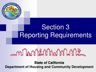 Section 3  Reporting Requirements