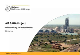 AIT BAHA Project  Concentrating Solar Power Plant Morocco