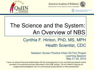 The Science and the System: An Overview of NBS