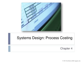Systems Design: Process Costing