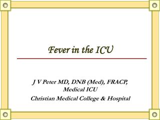 Fever in the ICU