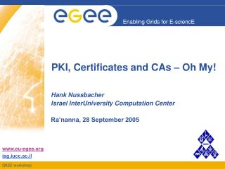 PKI, Certificates and CAs – Oh My!