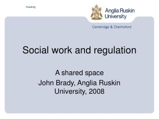 Social work and regulation