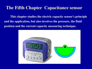The Fifth Chapter  Capacitance sensor