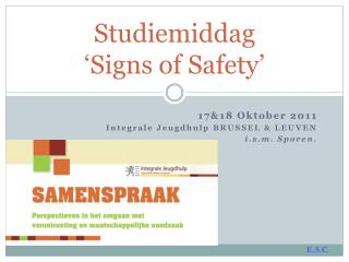Studiemiddag ' Signs of Safety '