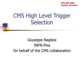 CMS High Level Trigger Selection