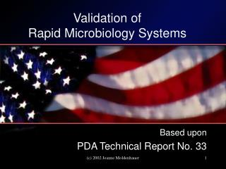 Validation of  Rapid Microbiology Systems