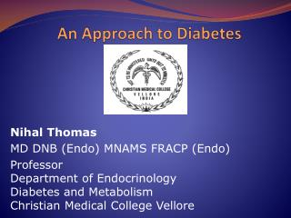 An Approach to Diabetes