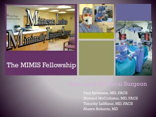 The MIMIS Fellowship