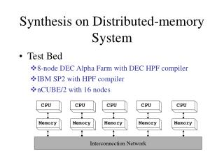 Synthesis on Distributed-memory System
