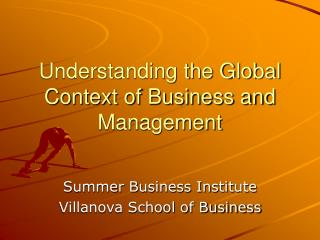 Understanding the Global Context of Business and Management