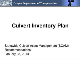 Culvert Inventory Plan
