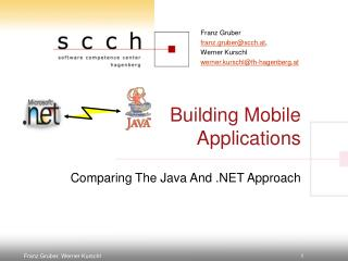 Building Mobile Applications