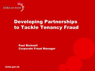 Developing Partnerships to Tackle Tenancy Fraud