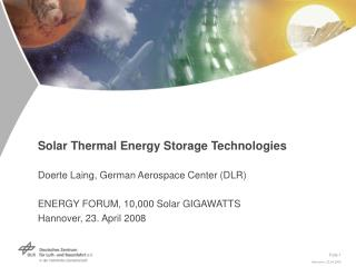 Energy Storage for Concentrating Solar Power Plants