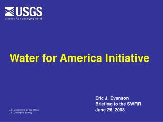 Water for America Initiative