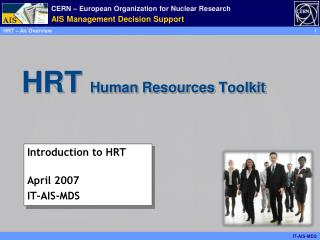 HRT   Human  Resources  Toolkit