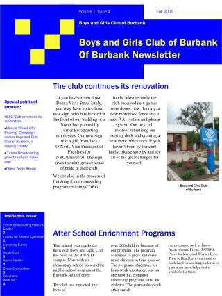 Boys and Girls Club of Burbank