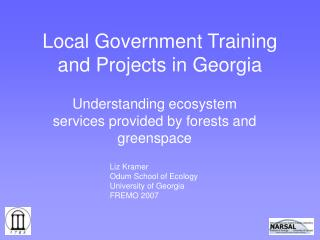 Local Government Training and Projects in Georgia