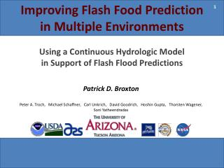 Improving Flash Food Prediction in Multiple Environments
