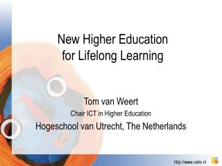 New Higher Education  for Lifelong Learning