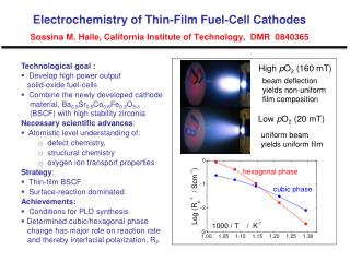 Technological goal :   Develop high power output    solid-oxide fuel-cells