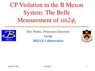 CP Violation in the B Meson System: The Belle Measurement of  sin2  1
