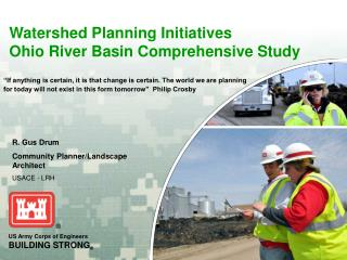 Watershed Planning Initiatives Ohio River Basin Comprehensive Study