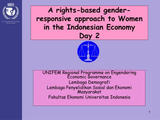 A rights-based gender-responsive approach to Women in the Indonesian Economy Day 2