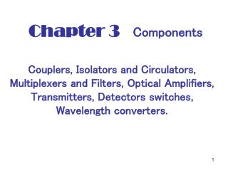Chapter 3    Components