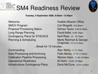 SM4 Readiness Review