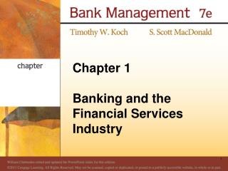 Chapter 1  Banking and the Financial Services Industry