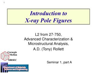 Introduction to  X-ray Pole Figures