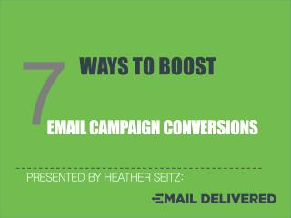 7 Ways to Boost Email Campaign Conversion