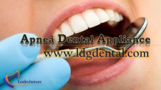 Apnea Dental Appliance