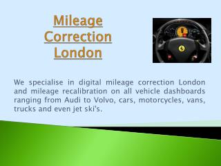 Mileage Correction London