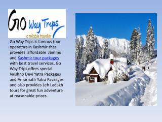 Jammu Kashmir tour packages