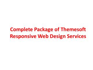 Complete Package of Themesoft Responsive Web Design Services