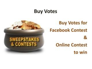 Buy Online Contest Votes