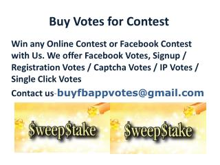 Buy Votes for Contest