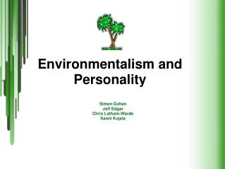 Environmentalism and Personality