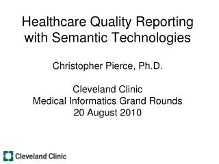 Healthcare Quality Reporting Overview