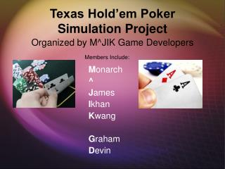 Texas Hold'em Poker  Simulation Project